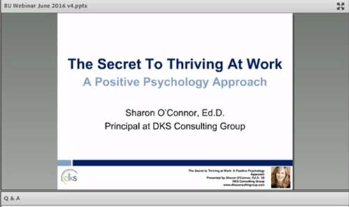 The Secret to Thriving at Work